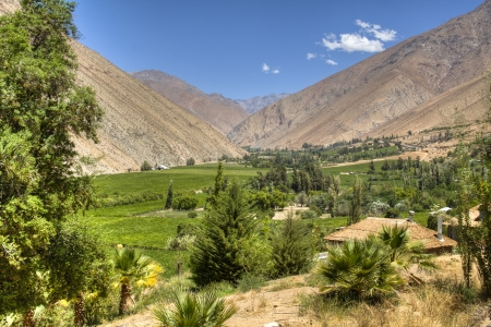 View over the Elqui valley in Chile photo