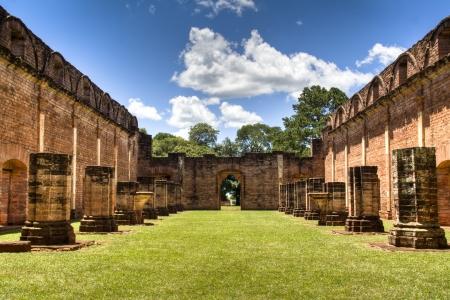 Old Jesuit ruins in Encarnacion, Paraguay photo