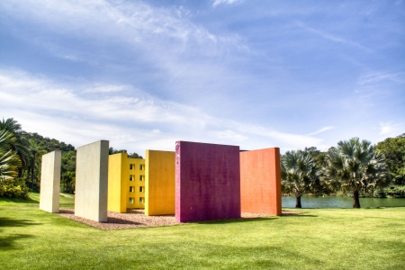 Colourful structure at Inhotim, Brazil
