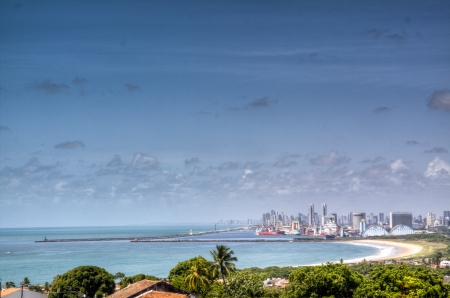 View over the bay of Recife, Brazil