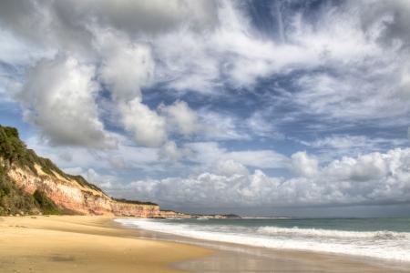 pipa: Empty beach close to Pipa, Brazil Stock Photo