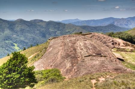 Ancient Inca ruins near the village of Samaipata, Bolivia Фото со стока