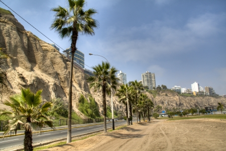 Coastal avenue in Lima, Peru
