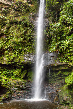 waterfall near the city of Tarapoto, Peru