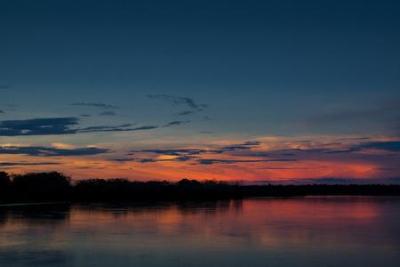 Sunset over the Amazon river near Iquitos, Peru Фото со стока - 25705704