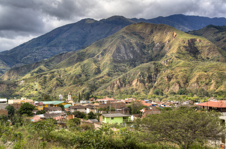 View over the town of Vilcabamba in Ecuador
