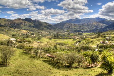 View over the valley of Vilcabamba in Ecuador Фото со стока - 25682269