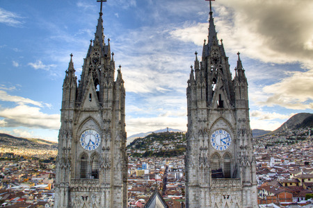 Towers of the cathedral of Quito, Ecuador