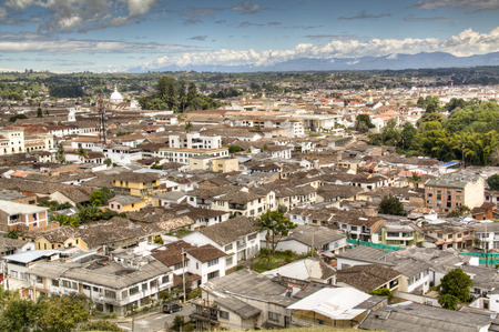 View over the town of Popayan in Colombia
