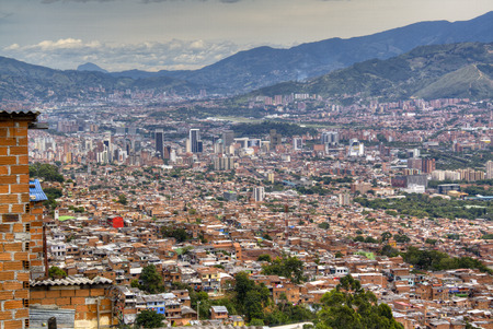 View over the city of Medellin, Colombia 版權商用圖片
