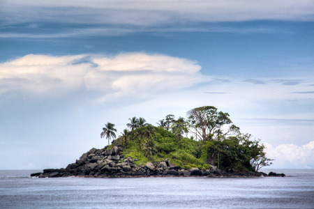 Island at the coast of Capurgana, Colombia