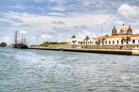 The river at Cartagena, Colombia photo