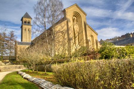 オルヴァル、ベルギーの修道院はトラピスト ビール、植物園、旧修道院の遺跡で有名です 写真素材