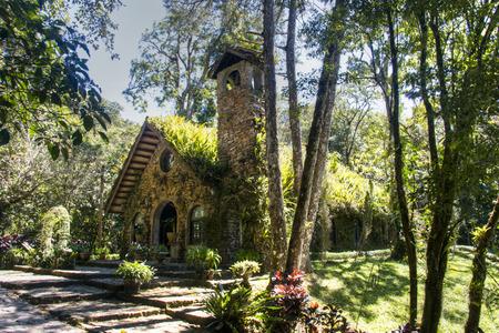 selva: Small overgrown church in the woods of Selva Negra near Matagalpa, Nicaragua
