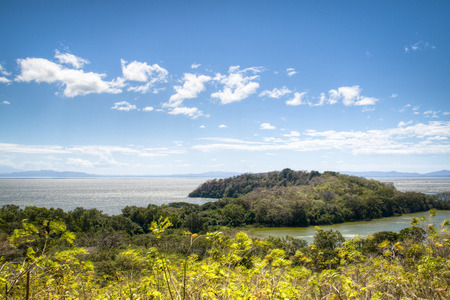 View over the Charco Verde lagoon on isla Ometepe with Lake Nicaragua in the background photo