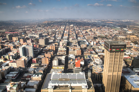 johannesburg: View from the Carlton towers over downtown Johannesburg in South Africa Stock Photo