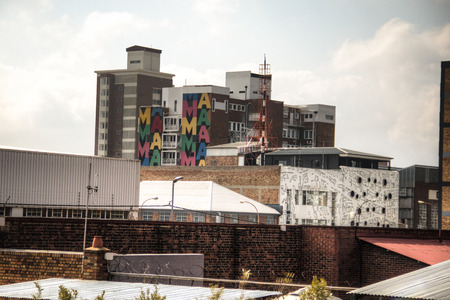 Colourfull building in the heart of Maboneng, Johannesburg, South Africa