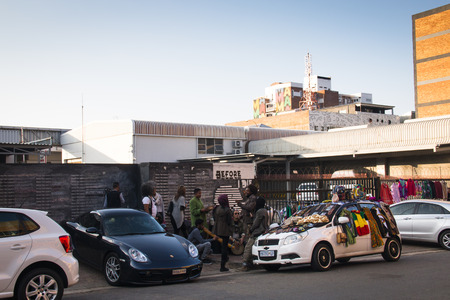 dreadlock: Alternative scene at the before I die wall in Maboneng, Johannesburg, South Africa Editorial