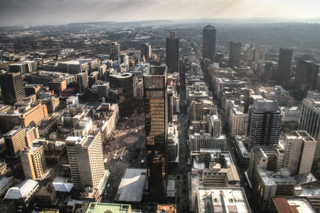 View from the Carlton towers over downtown Johannesburg in South Africa Фото со стока
