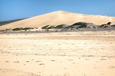 Dunes near the beach on the Bazaruto Islands near Vilanculos in Mozambique