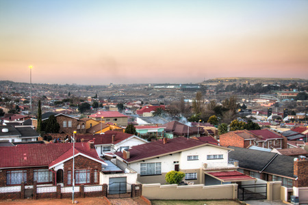 View over Soweto, a township of Johannesburg in South Africa Фото со стока