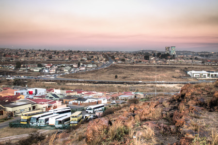 township: View over Soweto, a township of Johannesburg in South Africa Stock Photo