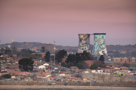 View over Soweto, a township of Johannesburg in South Africa Редакционное