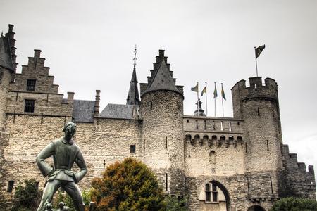 antwerp: The Steen castle near the Schelde river in Antwerp, Belgium Editorial