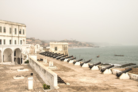 The Cape Coast Castle in Ghana is one of about forty slave castles, or large commercial forts, built on the Gold Coast of West Africa