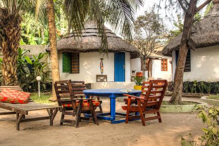 Casas y cabañas o chozas en Big Milly, el balneario top Krokobite, Accra, Ghana