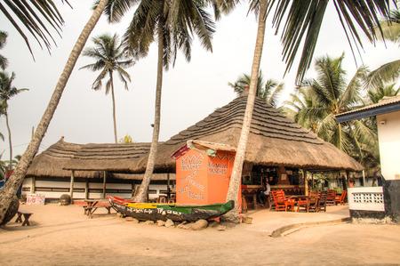 hotel bar: ACCRA, GHANA - JANUARY 2016: Big Millys hotel, bar and restaurant in Krokobite, Accra, Ghana Editorial