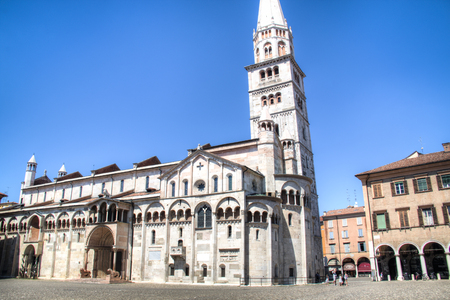 buit in: The Roman Catholic cathedral in Modena, Italy which was buit in 1184 and is UNESCO World Heritage Site.