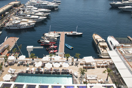 monte carlo: Yachts in the harbour of Monte Carlo in Monaco Editorial