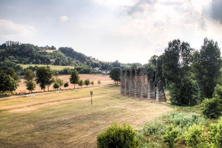 Roman aqueduct in Acqui Terme in Piedmont, Italy