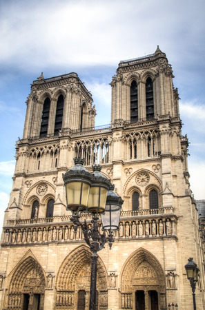 ile de la cite: The famous Notre Dame cathedral on Ile de la cite in Paris in France