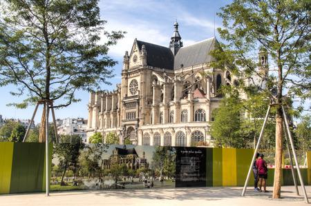 PARIS, FRANCE - SEPTEMBER 2016: Outside of the Jardin Nelson Mandela parc in Paris, France