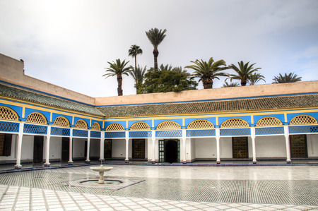 Inside the ancient palace of Bahia, one of the main attractions of Marrakesh in Morocoo