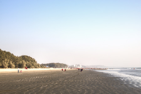 The longest beach in the world in Coxs Bazar in Bangladesh