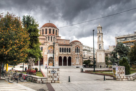 VOLOS, GREECE - OCTOBER 2017: The magnificent orthodox Saint Nicholas church in Volos, Greece