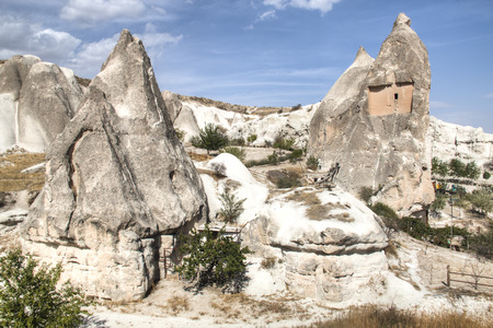 Cappadocia landscape near the town of Goreme in Turkey Stock Photo