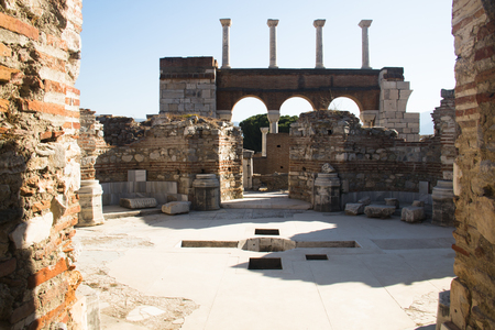 Ruins of the Saint Johns basilica in the town of Selcuk near the famous Ephesus ruins in Turkey. It is said that John the Evangelist was burried here.