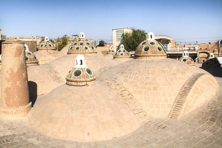 Typical rooftops of the old centre of Kashan in central Iran