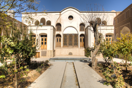 The Abasian house is one of the several restored historical houses in the centre of Kashan in central Iran Редакционное