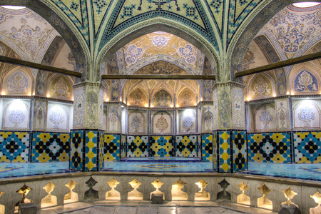 inside the Sultan Amir Ahmad bathhouse, the oldest and most famous bath house in Kashan, Iran