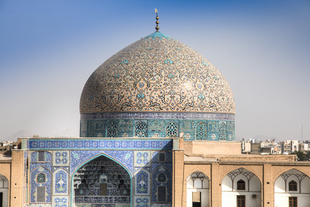 The Sheikh Lotfallah mosque at the Naqsh-e Jahan square in the centre of Isfahan in Iran