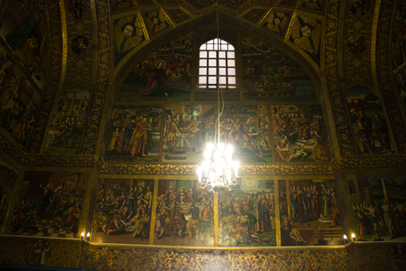 Inside the Vank Cathedral, the Armenian church in the Julfa neighborhood in the centre of Isfahan in Iran Editorial