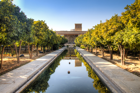 Inside the Karim Khan complex or Zand castle in the ancient city center of Shiraz in Iran Stock Photo