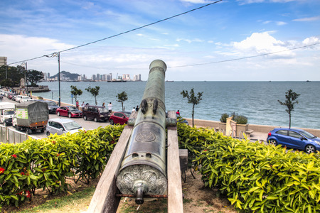 GEORGETOWN, SRI LANKA - DECEMBER 2017: The Cornwallis fortress in the old town center of Georgetown in Penang, Malaysia