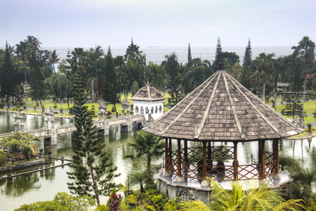 Taman Ujung is one of the famous water palaces in eastern Bali, the most touristic island of Indonesia Фото со стока - 120168033