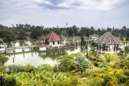 Taman Ujung is one of the famous water palaces in eastern Bali, the most touristic island of Indonesia Фото со стока - 120168001